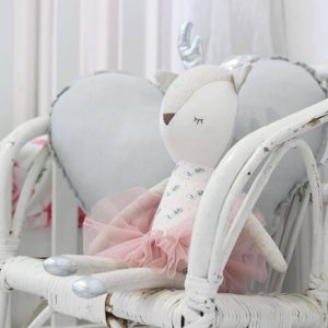 Medium Light Grey Heart Cushion