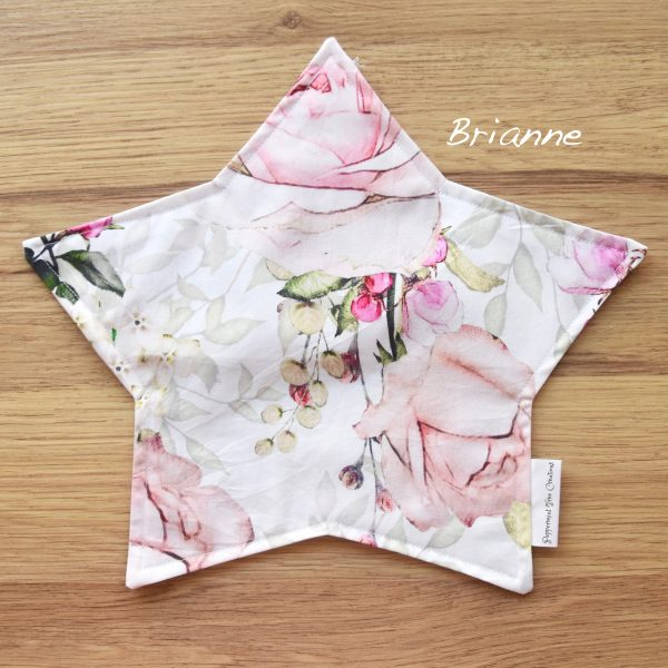 Star Cushion Floral Print - Limited Release fabric print - Brianne