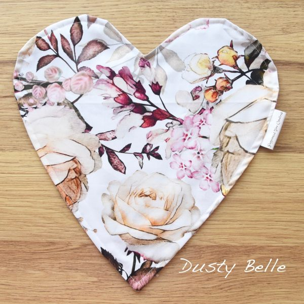 Heart Cushion in limited release fabric - Dusty Belle