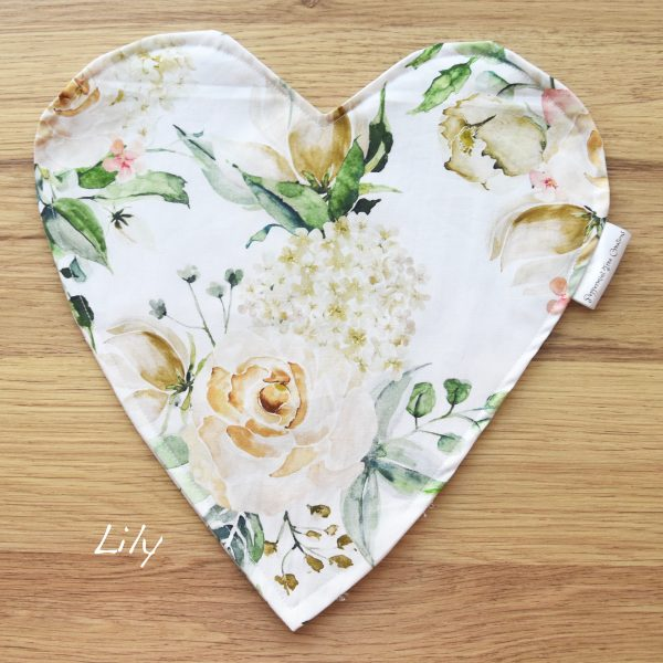 Heart Cushion in limited release fabric - Lily