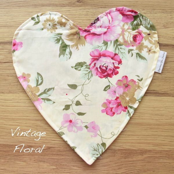 Heart Cushion in limited release fabric - Vintage Floral