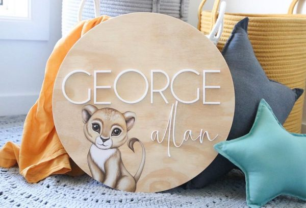 Boys Nursery Setup Wooden Name Plaque with Standard Dark Grey and Small Sage Star Pillows